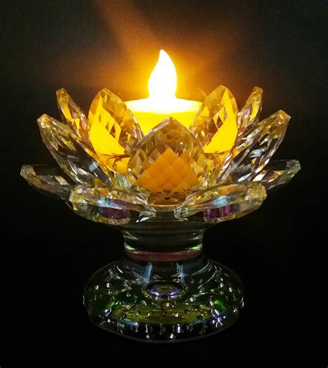 Lotus Led L Copper 7 Inc led candle light with lotus 18petals stand dharma items buddhist artifacts