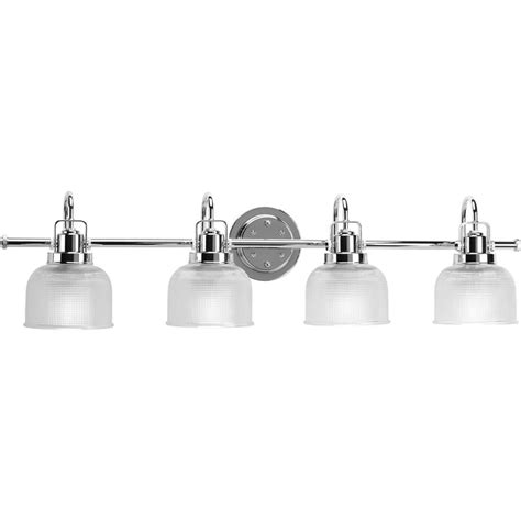 4 Bulb Bathroom Light Fixtures Shop Progress Lighting Archie 4 Light 8 688 In Polished Chrome Bowl Vanity Light At Lowes