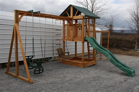 swing set roof wooden playsets shippensburg pa by air hill lawn furniture