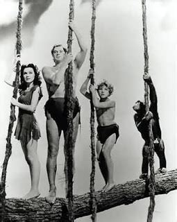 tarzan the monkey man swinging on a rubber band song old man gilbert johnny weissmuller and a monkey a