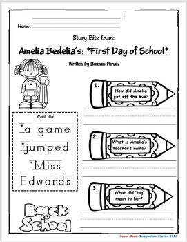 Amelia Bedelia's First Day of School Primary Activity