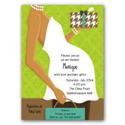 Belly african american green baby shower invitations paperstyle