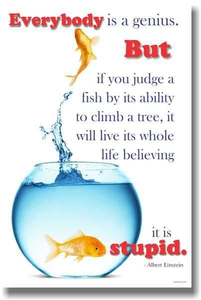 would you teach a fish to climb a tree a different take on with add adhd ocd and autism books everybody s a genius but if you judge a fish by its