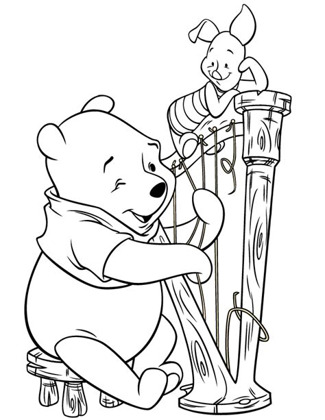 playing violin coloring page instrument coloring pages coloring home
