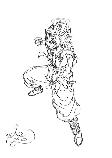 Dragon Ball Z Gogeta Coloring Page By Maantje007 On Deviantart Gogeta Coloring Pages