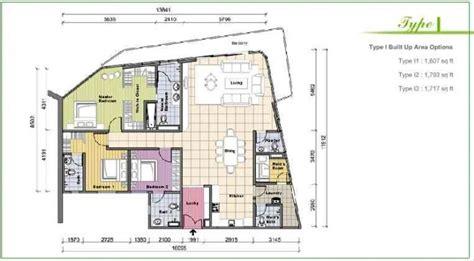 klcc floor plan idaman residences properties kuala lumpur city