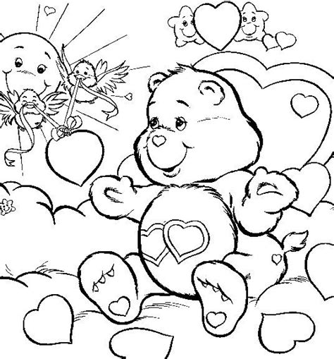 printable coloring in sheets free adult coloring downloads asian care bears love free