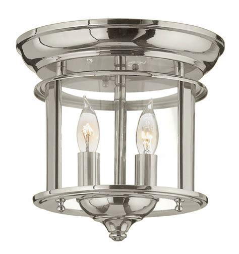 Hinkley 3472pn Gentry Polished Nickel Ceiling Light Hinkley Light Fixtures