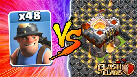 how to upgrade players in clash of clans clash of clans all miners vs town hall 11 new insane