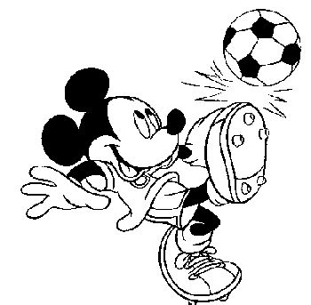 disney football coloring page colour plates mickey and donald