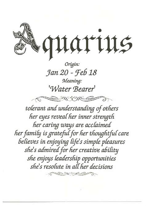 aquarius female happy birthday card anytime greeting cards  gifts greeting cards