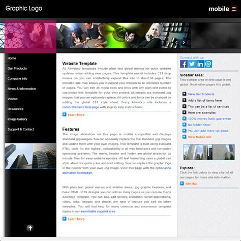 css mobile version web templates superlite mg css drop menu design with