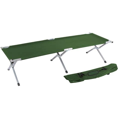 army cot bed trademark innovations 75 in portable folding cing bed