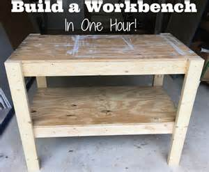 work bench diy diy workbench with free plans and cut list from the craft