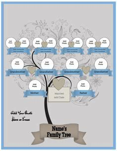 single parent family tree template this colorful family tree is structured around a single