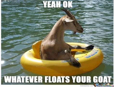 whatever floats your goat by dagoosefather meme center - Floating Boat Meme