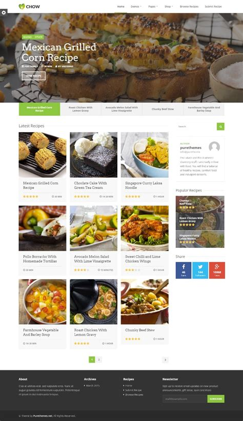 themes wordpress food 20 best food blog wordpress themes 2016 sourcewp