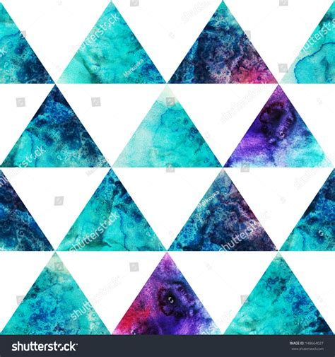 triangle pattern hipster watercolor triangles seamless pattern modern hipster stock