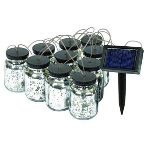 Solar String Lights Home Depot by Malibu Black Solar Jar String Light 8517 5503 10