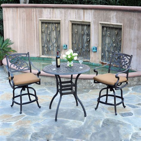 Meadow Decor K3B2 Kingston 3 Piece Outdoor Bar Height