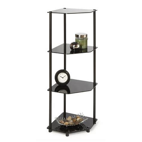 Tier Corner Shelf by 4 Tier Corner Shelf In Black 157005b