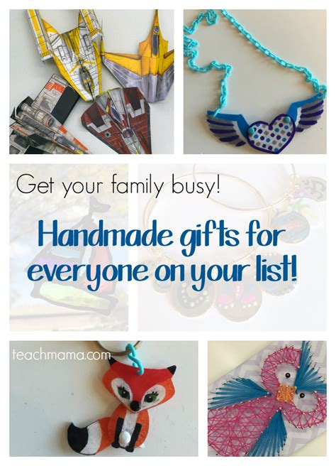 Handmade Gifts For Family - handmade gifts for the whole family teach