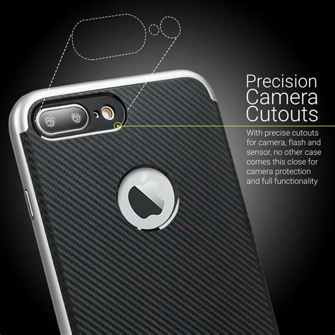 Iphone 7 Carbon olixar x duo iphone 7 plus carbon fibre silver