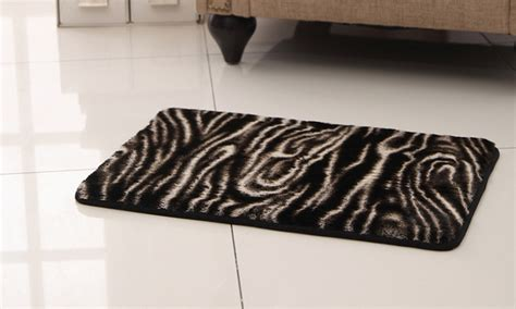 animal print bathroom rugs animal print memory foam bath rug groupon