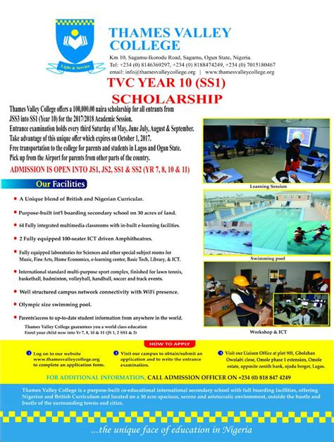 thames valley college jobs standard scholarship application form choice image form