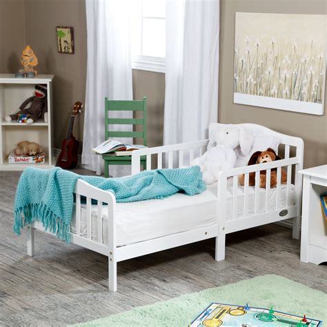 Baby Beds by The Orbelle Contemporary Solid Wood Toddler Bed White