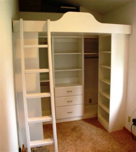 Bunk Bed With Closet Loft Beds With Closets Underneath Murphy Beds Wall