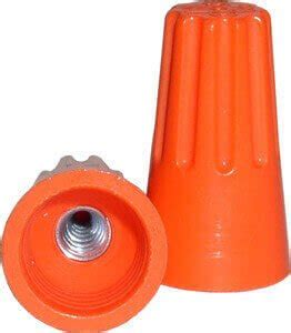 orange wire connectors nsi industries wc o b orange twist on wire connectors 22