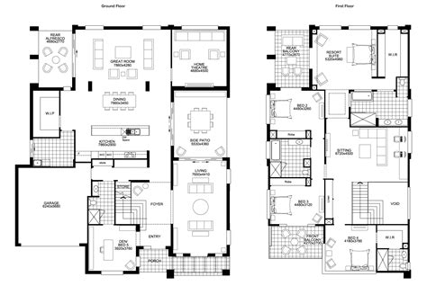 bedroom house floor plan plans designs and for 5