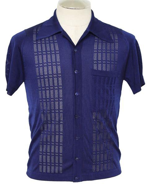 mens knit button shirt vintage montague 70 s knit shirt 70s montague mens navy