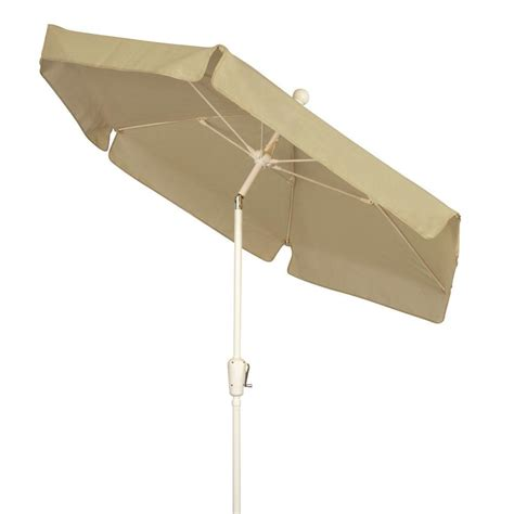 Fiberbuilt Umbrellas 7 5 Ft Patio Umbrella In Beige 7gcrw Home Depot Patio Umbrella