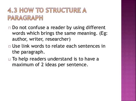 Use Section In A Sentence by Chapter 4 Structuring Paragraph And Sentences