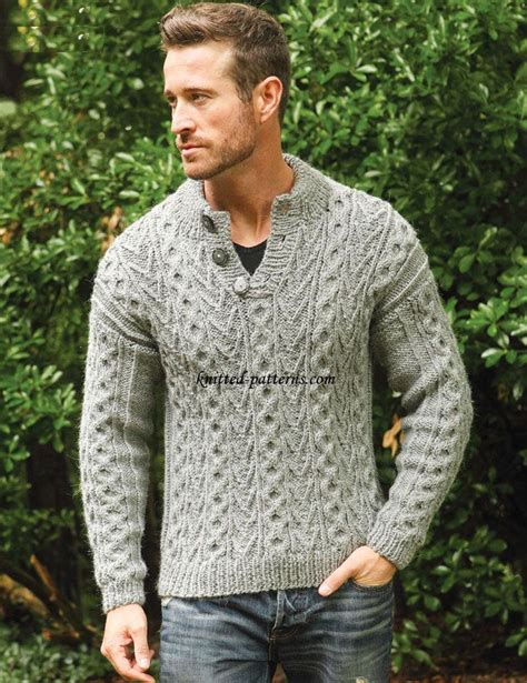 easy knit sweater pattern for man free mens knitting patterns to download crochet and knit