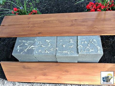 cinder block and wood bench diy wood and cinder block bench hometalk