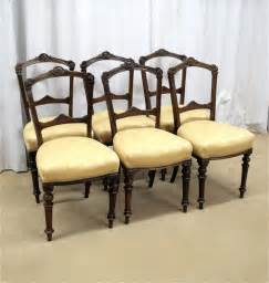 Antique Walnut Dining Chairs Six Walnut Dining Chairs Antiques Atlas