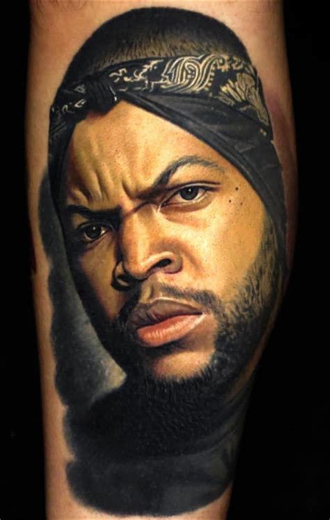 ice cube portrait nick hurtado tattoo 2016 art