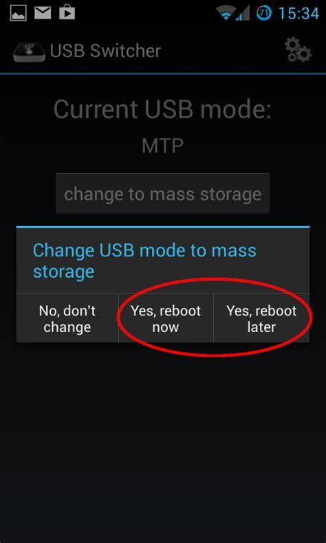 activate usb mass storage  developer options