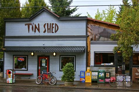 Tin Shed Restaurant by A Community Garden Tour Of Northeast Portland Bikabout