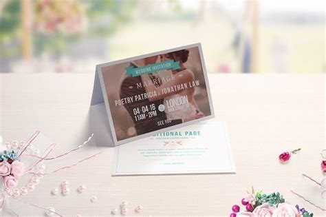 Wedding Invitation Card Mockup by 20 Psd Invitation Greeting Card Mockups Webprecis
