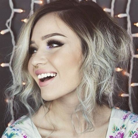 grey hair trend 2015 blonde ash ombre dark roots hair pinterest dark brown hairs
