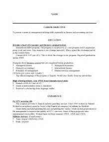 template resume free sle resume template cover letter and resume