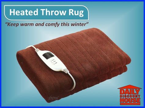 Electric Heated Rug by Heated Throw Rug Heated Blanket Brown Electric