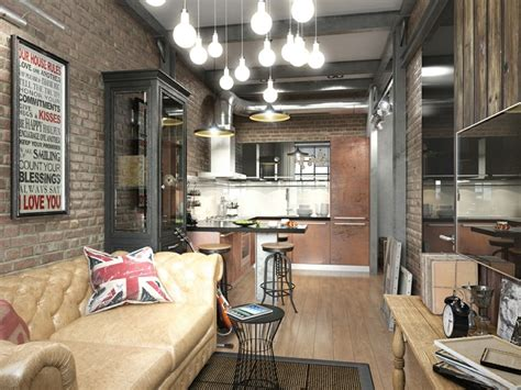 lima arredamenti pisos peque 241 os con paredes de ladrillo y dise 241 o moderno
