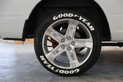 white band tires white letter officially licensed goodyear eagle f1 lettering tire stickers
