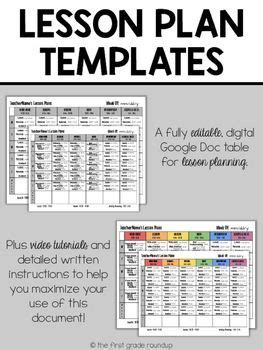 17 best ideas about lesson planning templates on pinterest