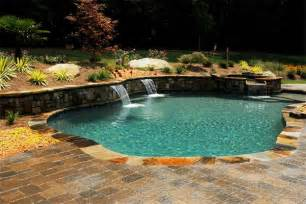 Backyard Pools On A Hill Inground Pool Ideas For Slopes How To Build A Pool What
